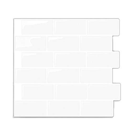 SYQH Weiße U-Bahn zurück Splash Fliesen schälen und Stick Selbstklebende Wall Decal Sticker DIY Küche Bad Home Decor Vinyl,C1