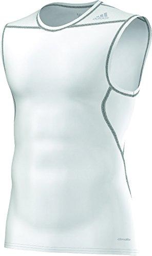 adidas Techfit Base T-Shirt sans manche Homme Blanc/Blanc
