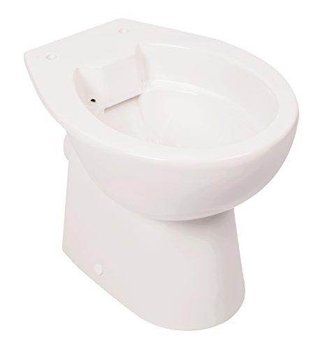 Stand-WC | Spülrandlos | Tiefspüler | Abgang waagerecht | Weiß | Toilette | Spülrandloses WC | Klo | Stand-WC | Randlos