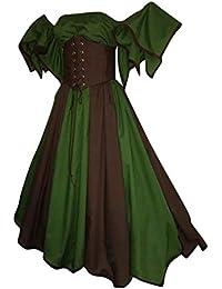 Vestido Victoriano Retro del Renacimiento De Las Mujeres Vestido Superior Rosado del Tubo Vestido De Noche