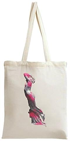 Renaissance Girl Sculpture Coloured Tote Bag