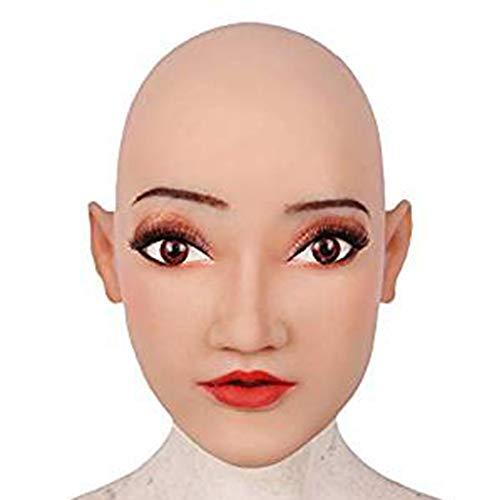 Beauty Kostüm Queen Machen - Handgemachte Bilden Weiche Silikon Realistische Weibliche Kopf Maske Transgender Maske Halloween Cosplay Maske