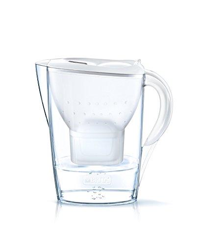 comprare on line BRITA Marella - Caraffa filtrante per acqua, capacità 2.4 L, bianca, 1 filtro MAXTRA+ incluso prezzo