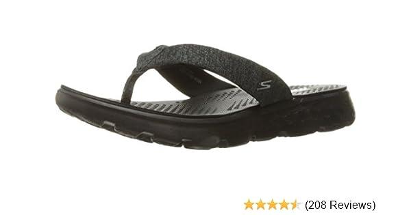 5438932455e1a Skechers Women s On-The-go 400-Vivacity Flip Flops  Amazon.co.uk  Shoes    Bags
