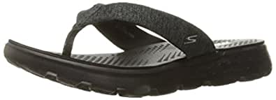 Skechers Performance Women's On The Go 400 Vivacity Flip Flop, Black, 5 M US