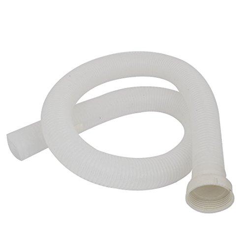 sourcingmap® Waschmaschine Ablauf Schlauch Plastik Wasser Abfluss Rohr 100cm lang Weiß