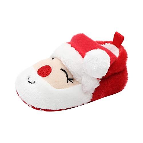 Cardith Baby Jungen Mädchen erste Wanderer-Schuhe Weihnachtsserie färbt Bequeme Weich Kleinkindschuhe