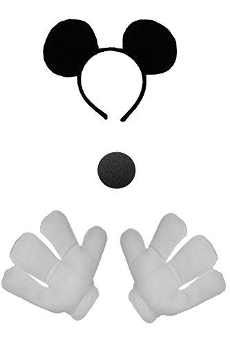 Accessoires Maus Kostüme (Maus Kostüm Zubehör Set Verkleidung)