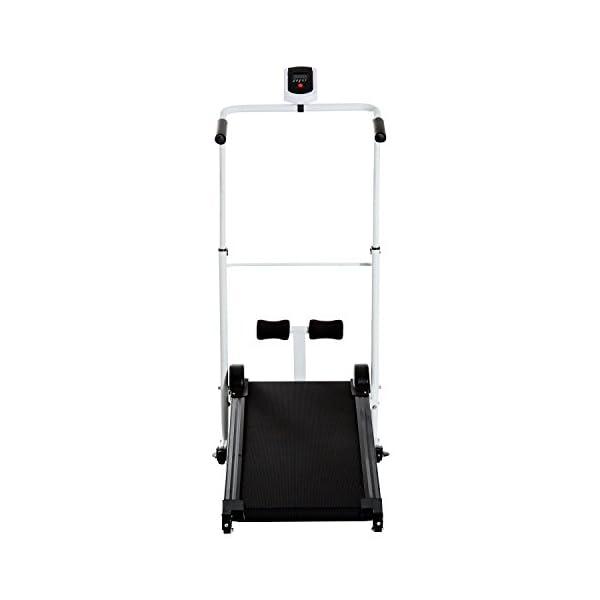 homcom Tapis Roulant Magnetico con Schermo LCD e Barra Situp Pieghevole in Acciaio 52×106×107-125cm 3 spesavip