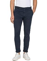 REPLAY Zeumar, Herren Jeans Slim Chino, Regular Waist, stylische Hyperflex Stretch-Hose für Männer, Größen: 27 - 40