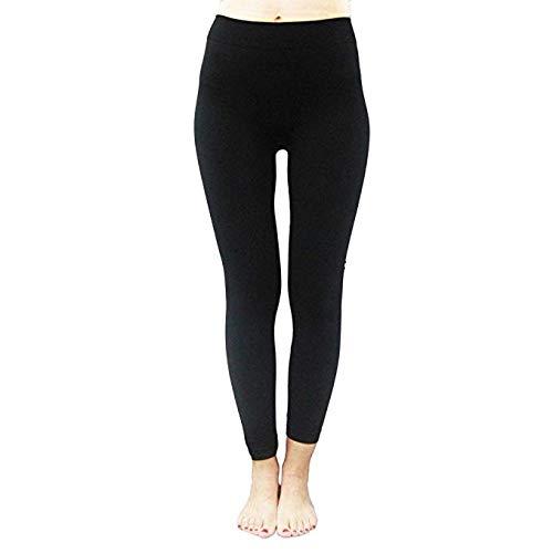 Womens Ankle Length Strechable Spandex Lycra Leggings  Pants (Black, Free...