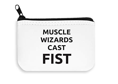 Muscle Wizards Cast Fist Zipper Wallet Coin Pocket Purse Billetera