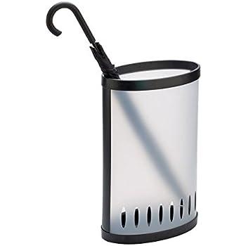argent Porte-parapluie en osier ronde Porte-canne universel /Ø 26/cm Relaxdays Pied de parasol en m/étal hauteur 50/cm