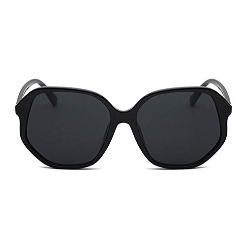 WULE-Sunglasses Unisex Classic Black Outdoor Fahrbrille UV400 Unisex European and American Fashion Unregelmäßige Large Border Sonnenbrille