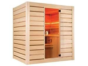 Sauna cabine vapeur Holl's ECCOLO coloris bois naturel Holl's HL-EC04