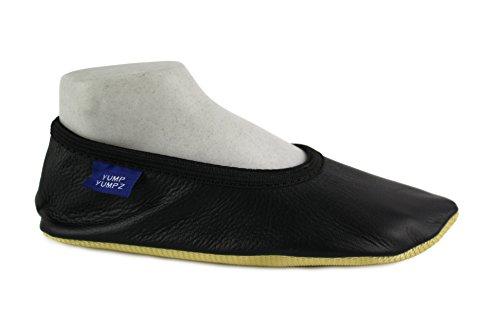 Bild von YUMP YUMPZ Soft Essentials #8plus Black - Gymnastikschuhe Aus natürlichem Soft-Leder Turnschläppchen/Saalturnschuhe/Ballettschuhe/Flats – in Verschiedenen Größen