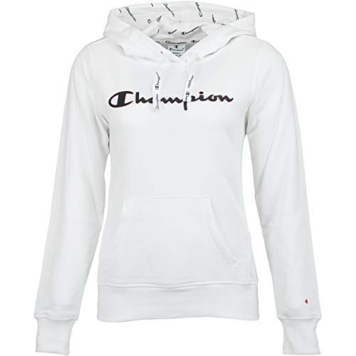 Champion Logo Women Hoody (XL, White) Womens Logo Hoody