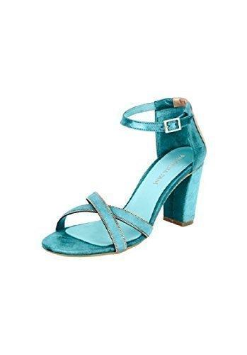 Patrizia dini sandales à talons en cuir Turquoise - Turquoise