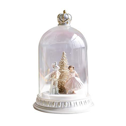 Bradford Wohnzimmer (Liuwubing Glasabdeckung Dekoration Wohnzimmer Dekoration Feine Dekoration Nachttisch Dekoration Prinzessin Und Maus Dekoration Hochzeit Geburtstagsgeschenk (Color : White, Size : 16 * 16 * 24 cm))