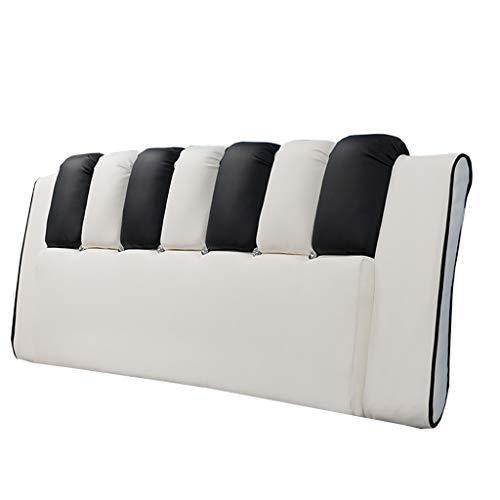 Home cuscino della borsa molle del letto della famiglia, letto matrimoniale coperchio della grande letto in pelle con testata del letto / cuscino grande della testa del letto (bianco e nero) bedroom