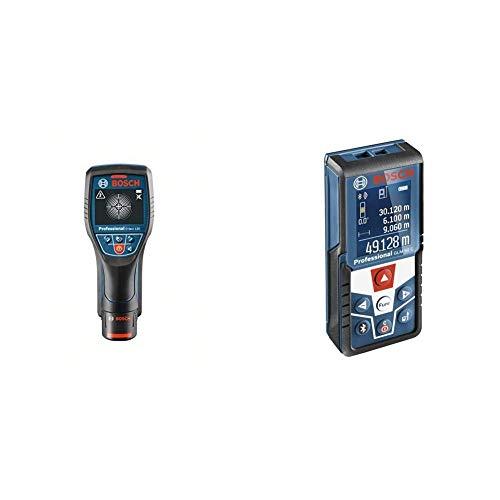 Bosch Professional Ortungsgerät D-tect 120 (1x 1,5 Ah Akku, Schnellladegerät, L-BOXX, Ortungstiefe max: 120 mm, 12 Volt) & Professional Laser Entfernungsmesser GLM 50 C -