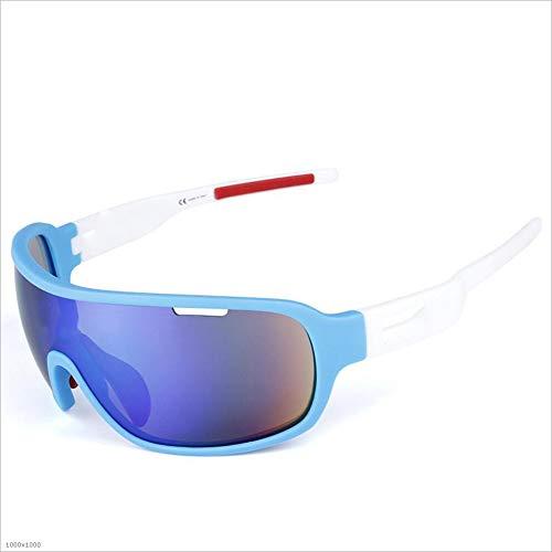 Outdoor 5 Tablets Sports Männer und Frauen schützen Sich vor dem Schlagen von Sand Eye Protector Bike Brillen Sonnenbrillen und Flacher Spiegel (Farbe : Schwarz) -