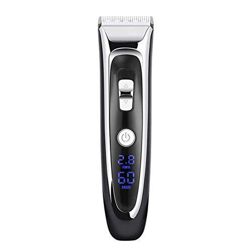 RATWIFE Barbier Digital LCD Keramikmesser Barbier Clipper ESC Mute Elektrische Haarschneidemaschine Schnellladung mit Sockel (Outdoor-stahl Sockel)