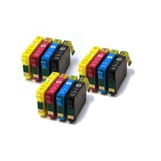 Odyssey Supplies High Quality Ink Cartridges Compatible with Epson Stylus SX200, SX215, D120, D78, D92, DX4000, DX4050, DX4400, DX4450, Office B40W, BX300°F, BX310FN, BX600FW, BX610FW, Stylus S20, S21, SX100, SX105, SX110, SX115, SX205, SX210, SX215, SX218, SX400, SX400W, WIFI, SX405, SX405W, SX410, SX415, SX510W, SX515W, SX600FW, SX610FW, - 12 pack (3 sets)