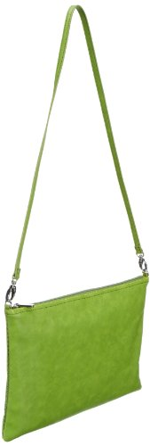 ESPRIT Tasche 043EA1O011, Damen Umhängetaschen, Grün (Peapod Green 315), 38x25x1 cm (B x H x T) Grün (Peapod Green 315)