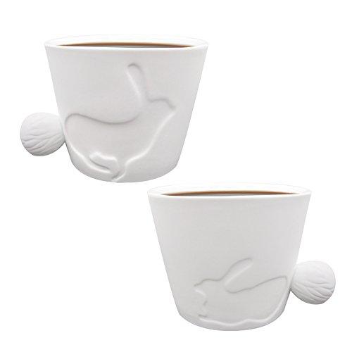 Tasse-Kerze in Keramik Ende Hase. 00034Tassen Kaninchen Teelichter (Hase Kaninchen Keramik)