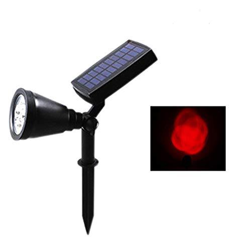 Led Outdoor Rasen Lampe Garten Solar Panel Power Einstellbare Wand Flutlicht Landschaft Beleuchtung Rot 41 * 10Cm
