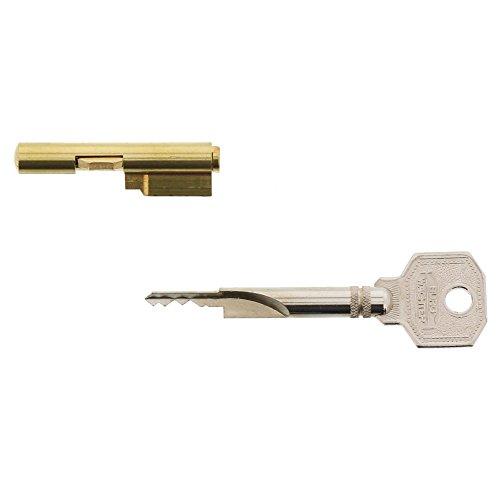 Burg-Wächter Schlüssellochsperrer für Einsteckschlösser, Zimmertürsicherung, Zylinder-Durchmesser: 7 mm, inkl. 2 Schlüssel, E 7/2 SB, 04281, 1 Stück
