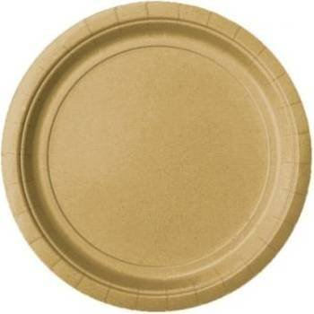 Pack of 16 x Gold Round Paper Plates (9
