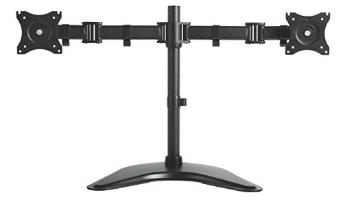 Kantek MA210 Monitorarm für einen Monitor, höhenverstellbar, Schwarz Schwarz schwarz Dual Monitor Arm
