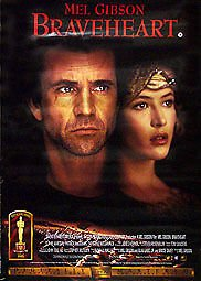 BRAVEHEART - Promotional Film Poster (Double Sided) MEL GIBSON