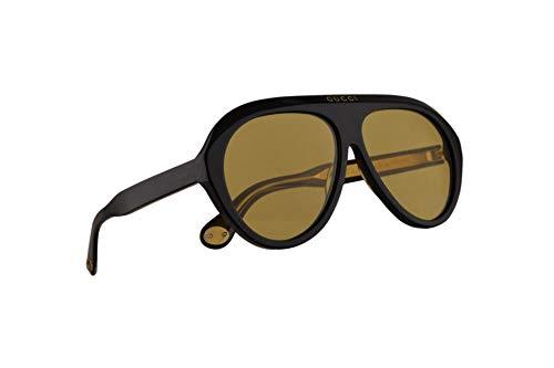Gucci GG0479S Sonnenbrille Schwarz Mit Gelben Gläsern 61mm 002 GG0479/S 0479/S GG 0479S