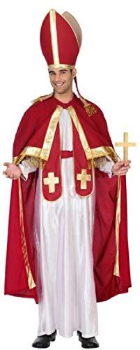 Fancy Me Herren-Kostüm Papst, religiös, katholisch, Heiliger Vater, Priester, Größe M - XL (Katholische Papst Kostüm)