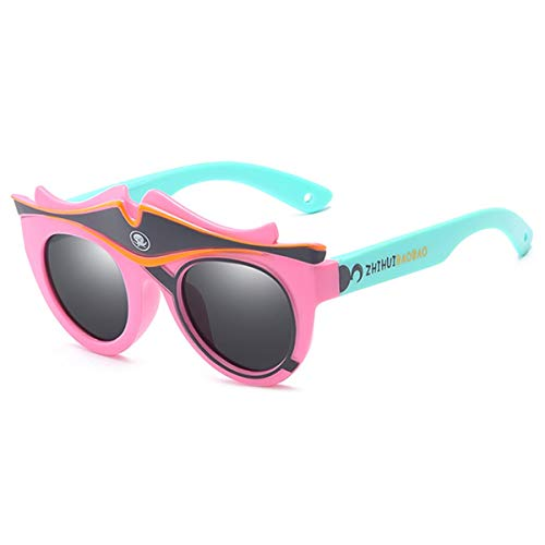 Sport-Sonnenbrillen, Vintage Sonnenbrillen, Fashion Kids Polarized Sunglasses Brand Cartoon Sun Glasses Boys&Girls Baby Suitable For Children Aged 3-10 Silicone Frame RS590 RS590 C1