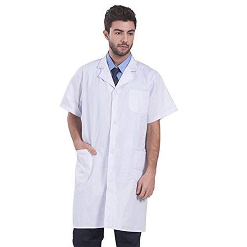 QZHE Medical uniform Laborkittel des Krankenhauslaborkittelunisexlabors Einheitliche Medizinische Kleidung, L - Medizinische Einheitliche