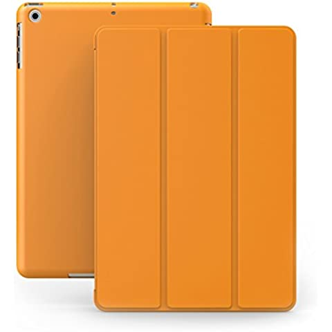 KHOMO Funda iPad Air 1 - Carcasa Naranja Protectora Ultra Delgada y Ligéra con Smart Cover y Soporte para Apple iPad Air 1 - Dual Orange