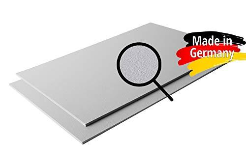 ASA/ABS Platte Kunststoff Platten | GENARBT | GRAU RAL 7040 | 1000x490mm | in Stärken 2mm | 4mm | TOP Qualität | genarbte Oberfläche (4mm, 100 x 49 cm) - Oberfläche Top