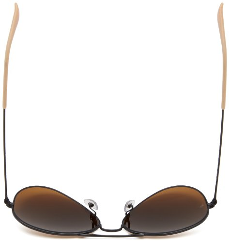 Ray-Ban - Lunettes de Soleil - RB3025 Aviator Metal Aviator 58 mm Matte black/Brown silver mirror gradient