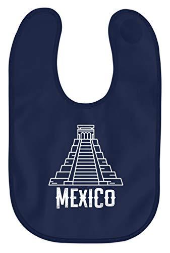Schuhboutique Doris Finke UG (haftungsbeschränkt) Mexiko Maya Pyramide - Baby Lätzchen -Einheitsgröße-Marine-blau Pyramide Marine