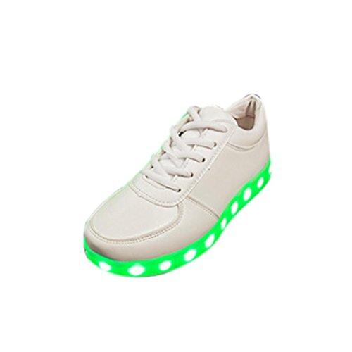 Dultos Zapatillas Carga Luz Zapatillas con Luces del Zapato por La Fiesta Baile Navidad San Valentín Luz Led con Cordones Luminous USB Charge Sport Sneaker Unisex Zapatos Casuales ❤ Naturazy
