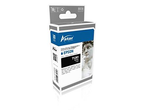 Preisvergleich Produktbild Astar AS15281 Tintenpatrone kompatibel zu EPSON T1281, 170 Seiten, schwarz