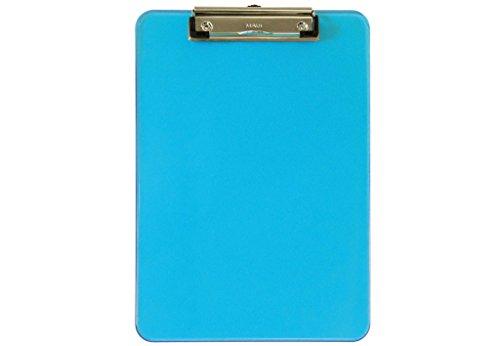 Maul 2340631 Schreibplatte, Kunststoff, A4 Klemmbrett, Aufhangöse, blau