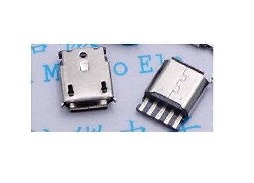 tecnostore® 2x conector micro USB hembra 5pines PCB SMD Connector Mini Jack F Pin soldar