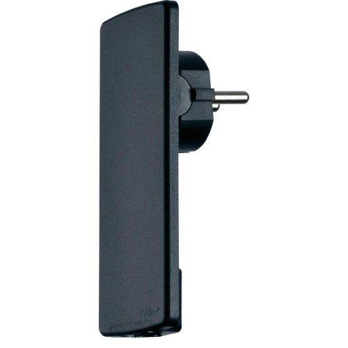 Schulte Elektrotechnik 1510 0000 0100 - Presa superpiatta EVOline con contatto di protezione, colore: Nero