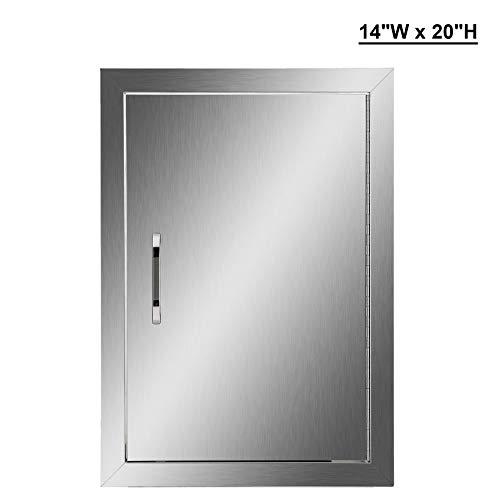 co-z 304Edelstahl Zugang Tür 35,6cm W x 50,8cm H BBQ Insel Tür Vertikale Single Tür Flush Mount für Outdoor Küche -