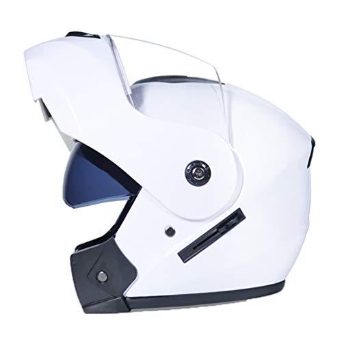 Off Road moto casco Cap uomini Dual Lens anti nebbia flip up pieno viso moto Caschi moto Caps per Motocross Motor Racing in tutte le stagioni